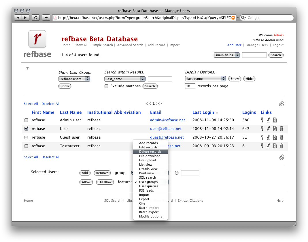 screenshot 1: manage users