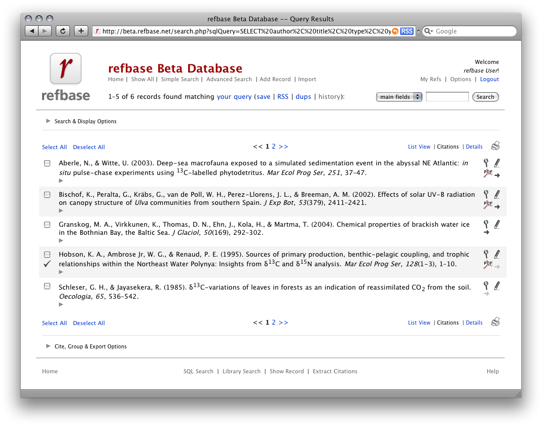 screenshot: citation view