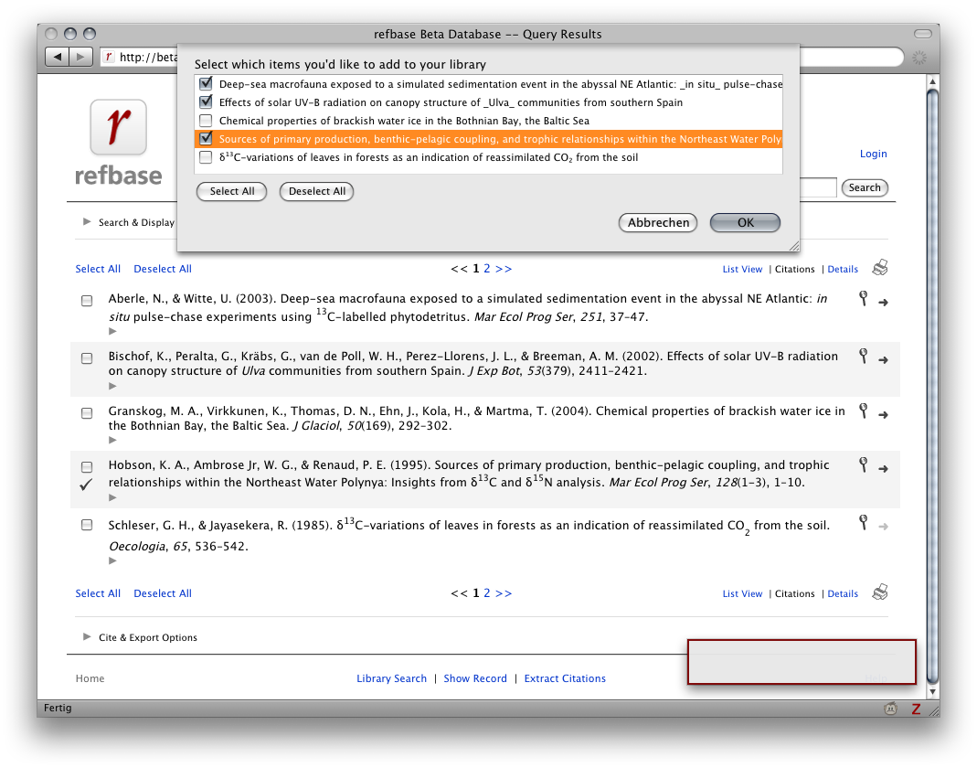 screenshot 1: Zotero compatibility via unAPI & COinS